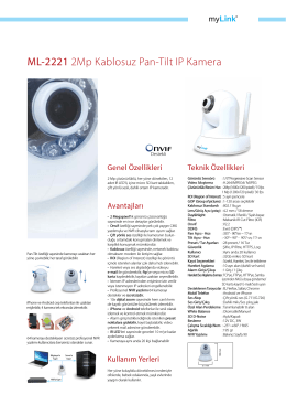 ML-2221 2Mp Kablosuz Pan-Tilt IP Kamera