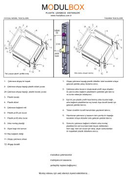 montaj ve üretim şeması