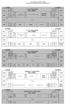 giriş kat yerleşimi 11/h seç. ders 10/n 9/g 9/h 9/ı 12/b 12/c müzik