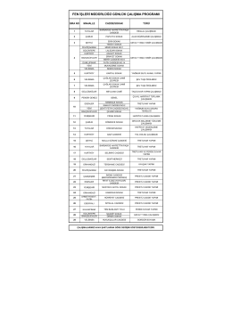 fen işleri müdürlüğü günlük çalışma programı