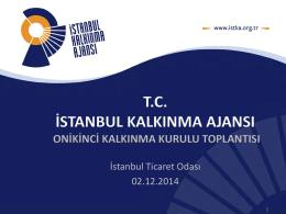 Toplantı Sunumu - İstanbul Kalkınma Ajansı