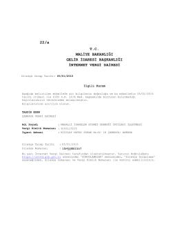 derneğimizin 05.01.2015 tarihli vergi borcu yoktur yazısını