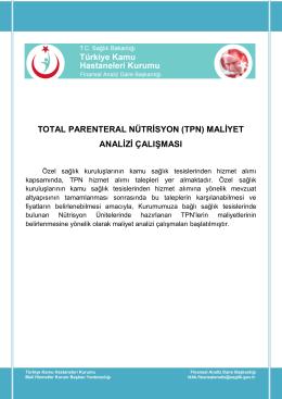total parenteral nütrisyon (tpn) - Türkiye Kamu Hastaneleri Kurumu
