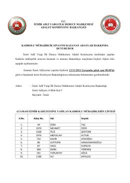 kadrolu mübaşirlik sınavını kazanan adaylar