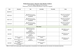 Melikşah Üniversitesi / İktisadi ve İdari Bilimler Fakültesi 2014