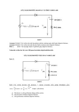 Güç Elektroniği Vize – 2005 (Çözüm Yok)