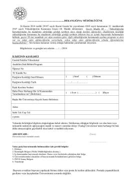 Başvuru evrakları başvuru yapılacak birime elden veya posta ile