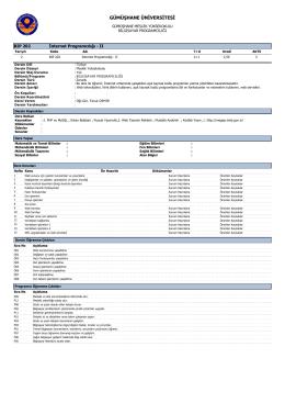 BIP202 İnternet Programcılığı - II