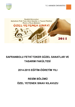 safranbolu fethi toker güzel sanatlar ve tasarım fakültesi 2014
