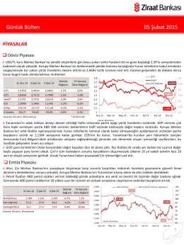 5 Şubat 2015 tarihli piyasa yorumu