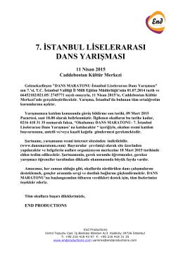 7. İSTANBUL LİSELERARASI DANS YARIŞMASI