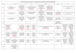 Lisansüstü Programları_2014-2015 Bahar Dönemi Haftalık Ders