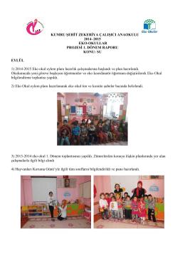 kumru şehit zekeriya çalışıcı anaokulu 2014–2015 eko