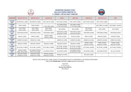 2014-2015 Eğitim-Öğretim Yılı 2. Dönem Ortak Sınav Takvimi