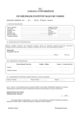 the PDF file - Avrasya Üniversitesi