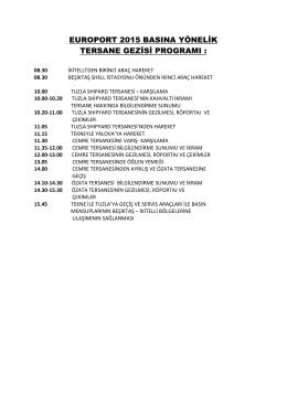 Basın Tersane Gezisi - 18 Şubat - Europort