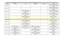 Güncellenmiş 2014-2015 Eğitim Öğretim Yılı