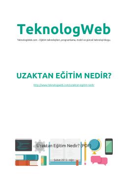 pdf dosyasını - Teknolog Web