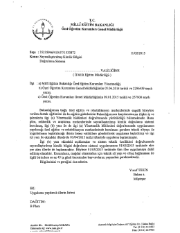 Sayısallaştırılmış Kimlik Bilgisi Doğrulama Sistemi 16.02.2015 13:49