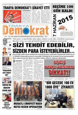 7 HAZİRAN - Trakya Demokrat Gazetesi