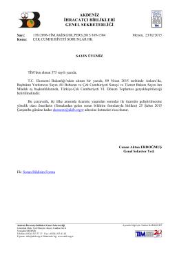 çek cumhuriyeti sorunlar hk - Akdeniz İhracatçı Birlikleri