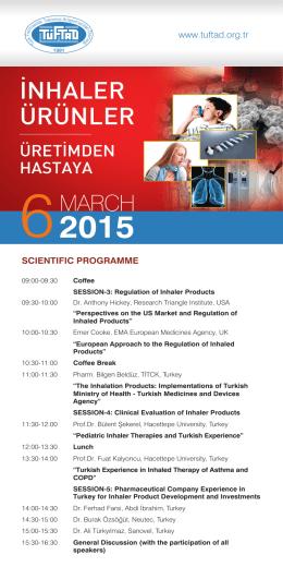 6 Mart 2015-Bilimsel Program