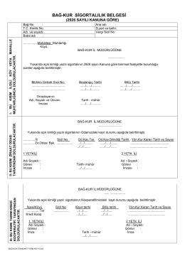 bağ-kur sigortalılık belgesi