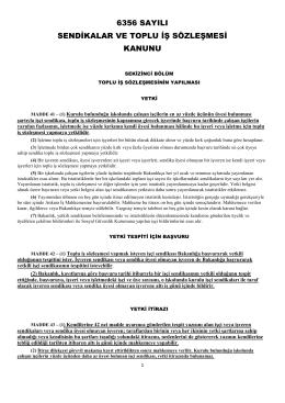 toplu iş sözleşmesi prosedürü