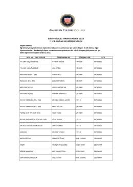 PDF Görüntüle - Beylikdüzü Amerikan Kültür Koleji
