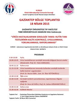 gaziantep bölge toplantısı 18 nisan 2015