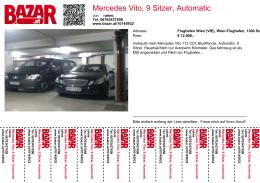 Mercedes Vito, 9 Sitzer, Automatic