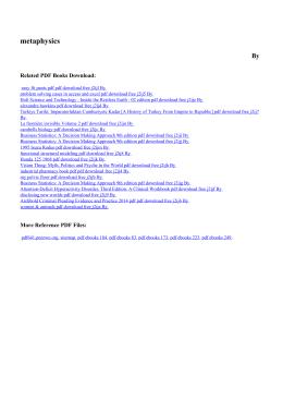 metaphysics pdf free - PDF eBooks Free | Page 1