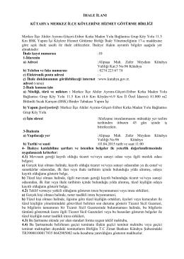 Merkez İlçe Ahiler Ayrımı-Göçeri-Etibor Kırka
