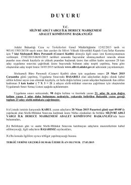 söz.cik katip uygulama sınavı sonucu 27.03.2015
