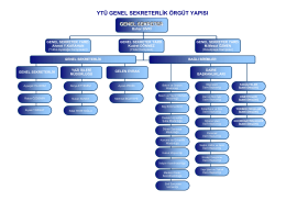 ytü genel sekreterlik örgüt yapısı