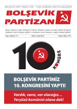 bolşevik partimiz 10. kongresini yaptı!