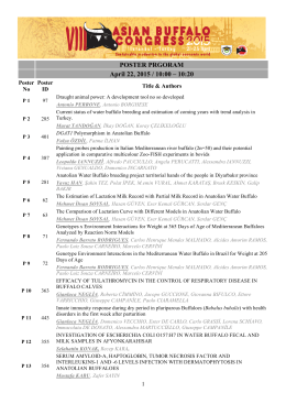 POSTER PRGORAM April 22, 2015 / 10:00 – 10:20