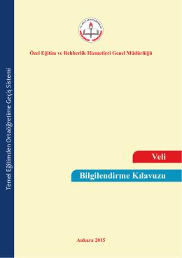 Veli Bilgilendirme Kılavuzu - özel eğitim ve rehberlik hizmetleri