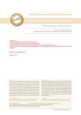 Erektil Disfonksiyon ve Kardiyovasküler Değerlendirme Erectile