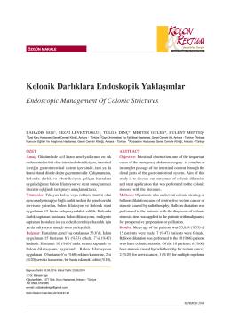 Kolonik Darlıklara Endoskopik Yaklaşımlar