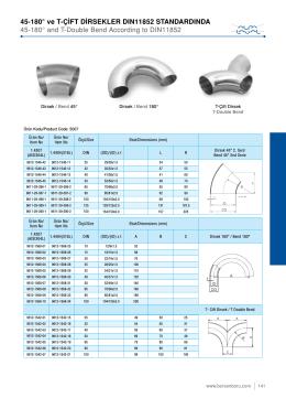 45-180° ve t-çift dirsekler dın11852 standardında
