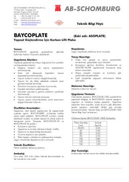 Page 1 Tipik fiziksel özellikleri Bu değerler mevcut üretimin tipik