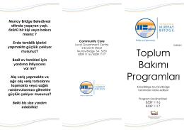 Toplum Bakımı Programları - Rural City of Murray Bridge
