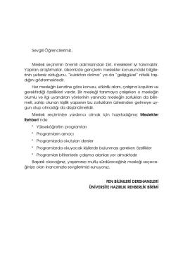 2014 Meslekler Rehberi - Fen Bilimleri Dershanesi