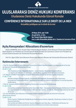 uluslararası deniz hukuku konferansı