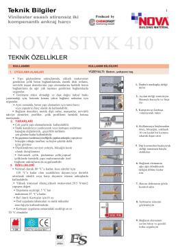 NOVA STVK 410 - Nova Teknik