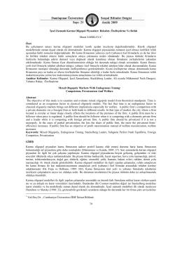 içsel zamanlı karma oligopol piyasaları: rekabet, özelleştirme ve refah