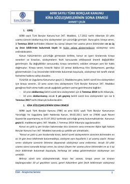 6098 tbk - kira sözleşmelerinin sona ermesi