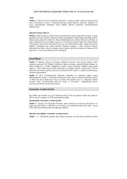 Akademik Yükseltme ve Atama Esasları (PDF)