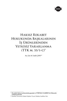 TTK m. 55/1-c - Ankara Barosu